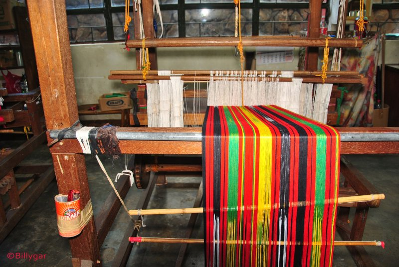 Wooden weaving machine
