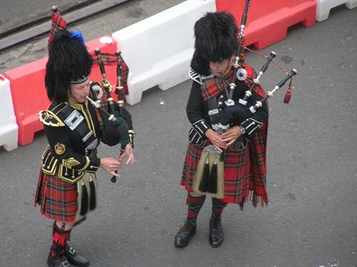 Scotland Welcome bagpipes