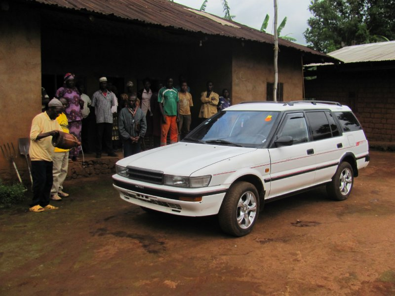 Tata Fombuh blessing Mr Kenneth's car