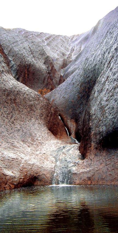 Waterfall on Uluru - A rare sight!