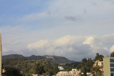 Hollywood sign in the distance