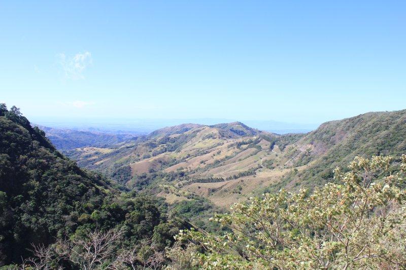 View from Santa Elena towards lake Arenal
