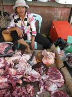 Pig's head at the market