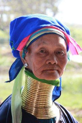 long neck woman face