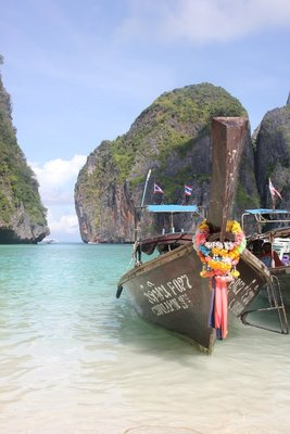 our boat at maya bay