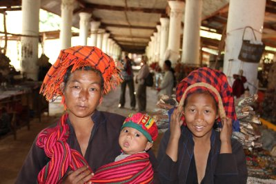 shan woman with baby