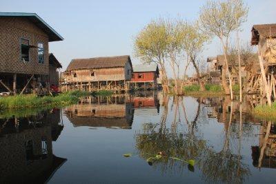 village on lake