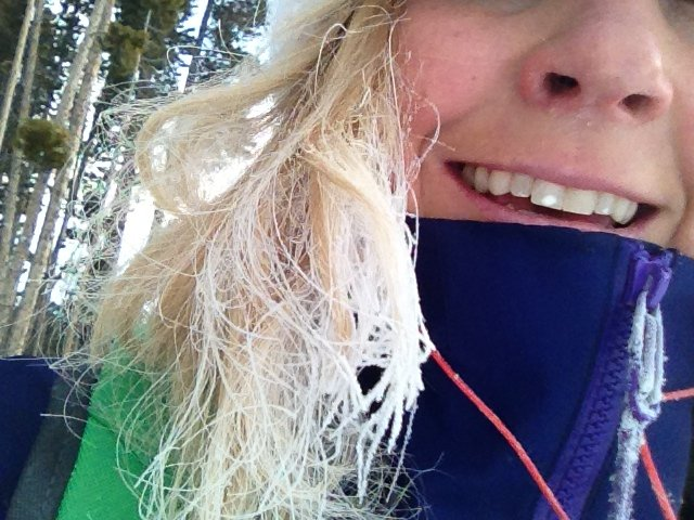 The Hair is getting Frost Bite.  Sigh...here come those split ends!