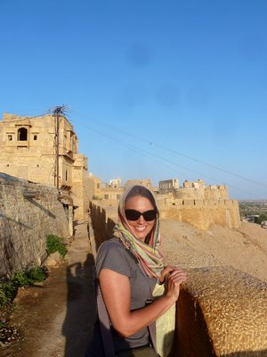 Checking out the fort in Jaisalmer
