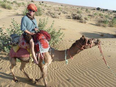 Camel riding near Jaisalmer