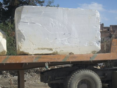 Marble on the back of a truck when we were driving from Pushkar to Udaipur