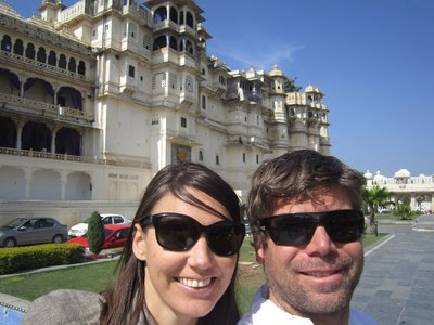 At the city palace in Udaipur