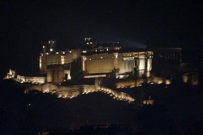 Amber Palace at night