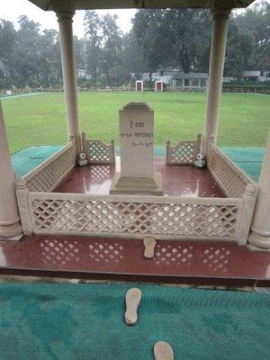 The exact spot where Gandhi was shot