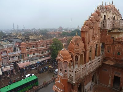 View from Hawa Mahal in Jaipur (the Pink City)