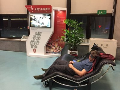 Napping in Taipei airport