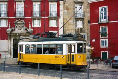 Typical tram from Lisbon