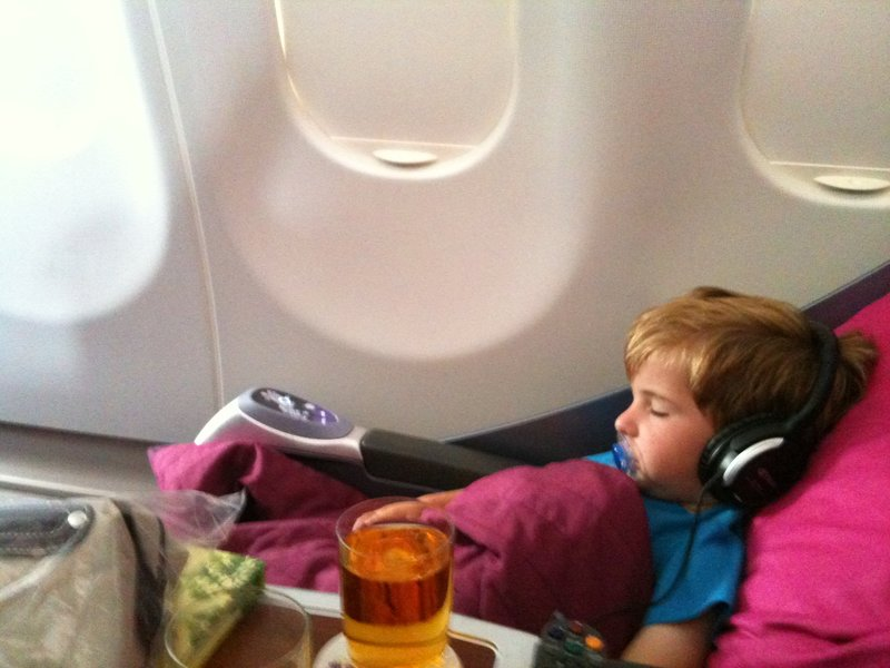 Oscar dreaming of being an A380 captain