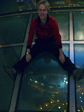 Me sitting on the glass floor