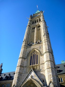 The Peace Tower outside 2