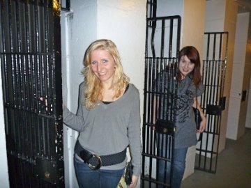 Yoselien and Kristyna next to cells