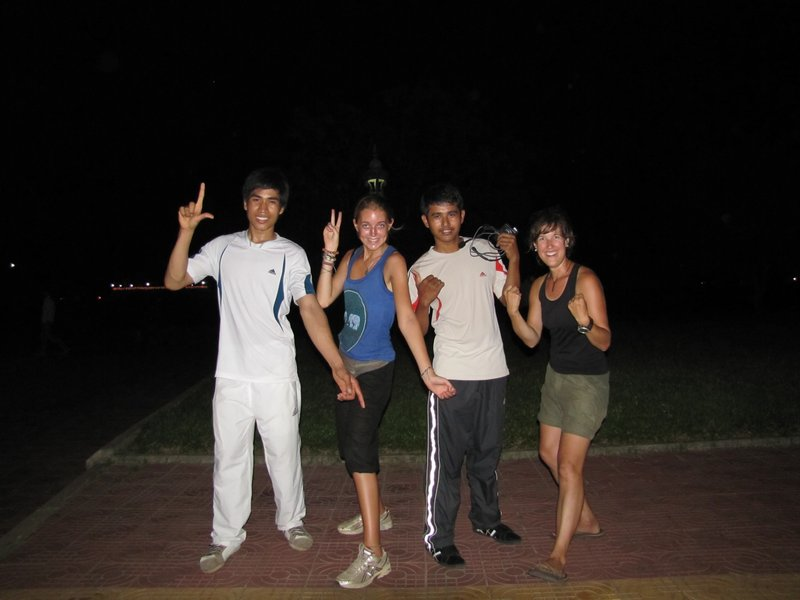 Battambang - Cours d'aérobie