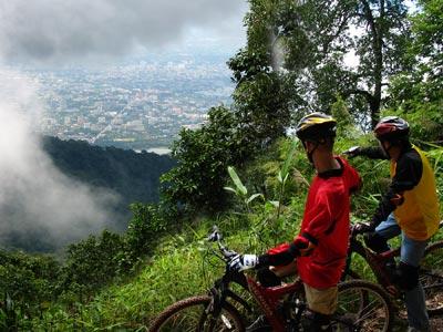 Mountain biking near Chiang Mai Thailand