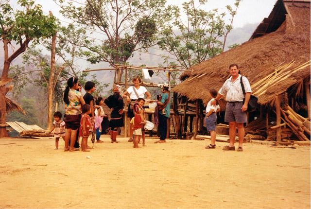 Visiting an Akha village near Chiang Mai Thailand