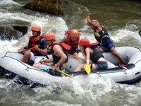 White water rafting near Chiang Mai Thailand