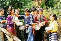 Thais throwing water at the Songkran festival in Chiang Mai Thailand
