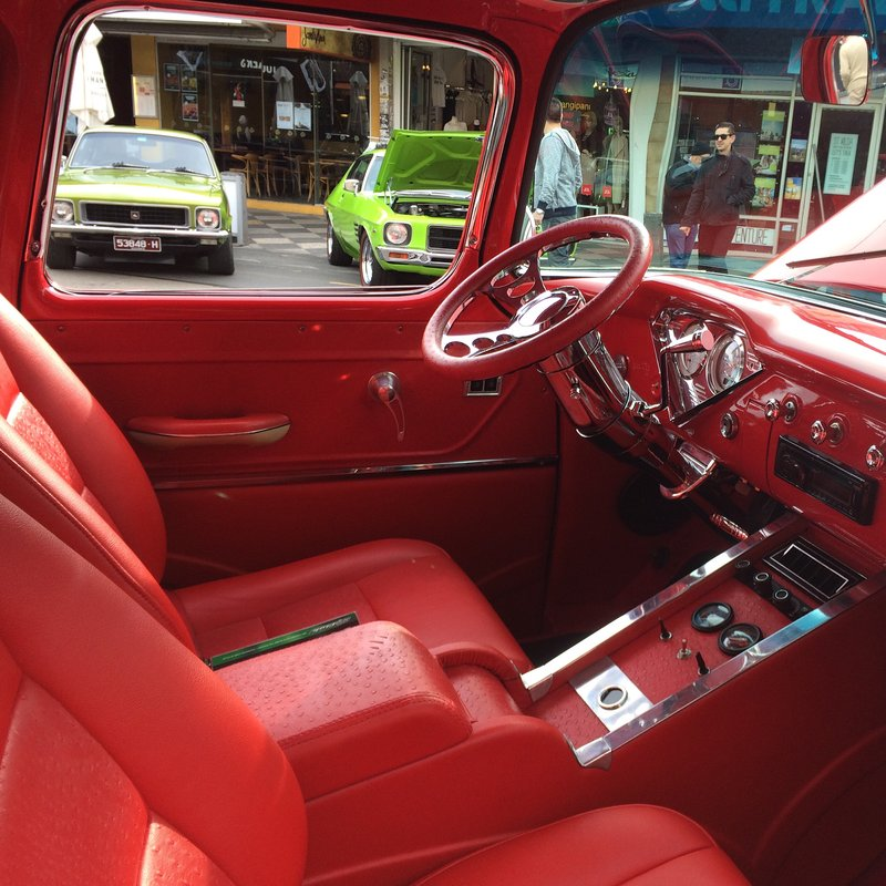 Old timers on display - interior detail