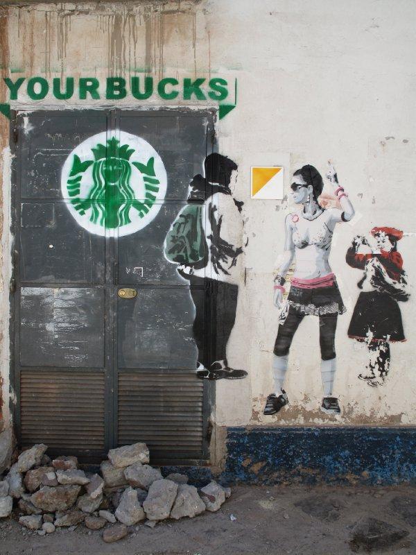 Banksy interrupted