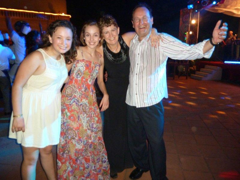 Mat, Molly, Sian, Tony at NYE