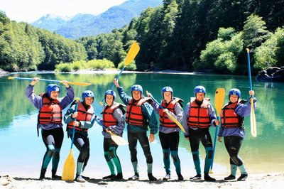 White Water Rafting on the border of Argentina/Chile