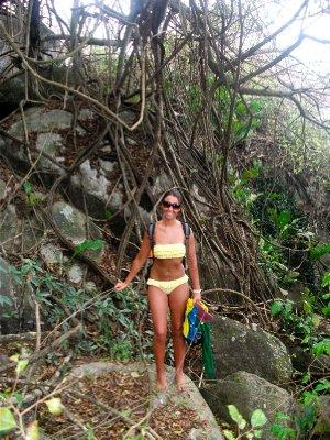 Jungle trekking, 90% humidity