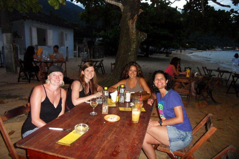 Dinner at the beach on Ilha Grande