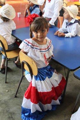 Costa Ricas nasjonaldrakt!
