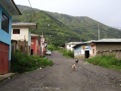 Santa Maria, foerste stedet vi overnattet paa vei til Machu Picchu