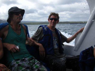Tom paa vei til Isla Isabela