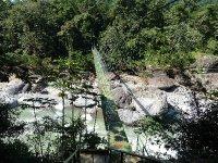 foot bridge to cross rio congrejal