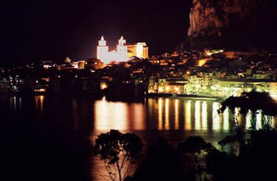 Cefalu, Sicily at night