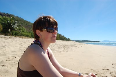Hanne på Pretty beach