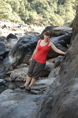 Hanne i Barron river