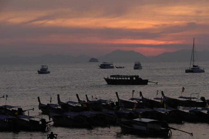 Sunset from Ao Nang beach.