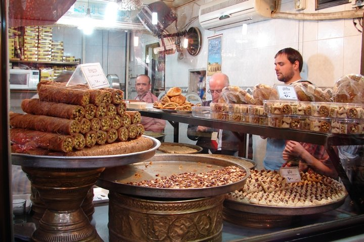 One of the many sweet shops inside the souk.