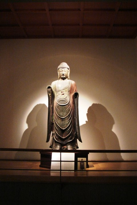 A statue of Buddha in the museum.