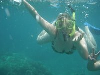 failing at snorkelling in maui