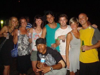 Our Bocas group on a night out dancing