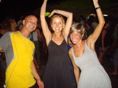 Andrew, Alanna and Ana dancing