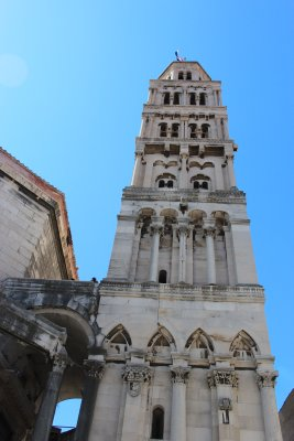 The bell tower in Diocletian's Palace
